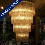 Paire de lustres en verre de Murano - VENDU