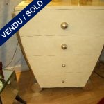 Commode 1950s, 4 eggshell drawers - SOLD