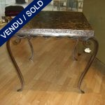 Table with iron feet - SOLD