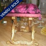 A set of stools in gilded carved wood - SOLD