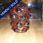 Vase en verre de Murano avec boules - VENDU