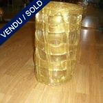 Vase en verre de Murano doré - VENDU