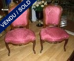 Set of 4 chairs style Louis XV - SOLD