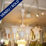 Verre de Murano blanc 8 branches - VENDU