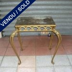 "Little table gold wrought iron and ""Eglomised"" glass - SOLD"