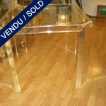 Table for games in plexi and glass plan - SOLD