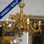 Verre de Murano doré fumé - VENDU