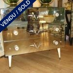 3 drawers, engraved mirror, epoque 1950/1960 - SOLD