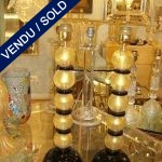 "Ref : LL68  - Gilded and black glass of Murano ""signed by TOSO"" - SOLD"