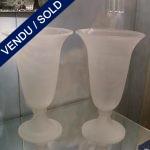 "Paire de vases signée ""CENEDESE"" Verre de Murano - VENDU"