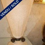 """Verre de Murano et métal par """"SEGUSO"""" - VENDU"""