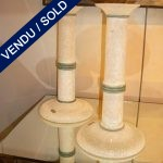 "Set of candlesticks in glass of Murano by ""SEGUSO"" - SOLD"