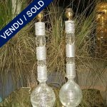 White and transparent glass of Murano signed ... - SOLD