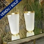 "Set of vases in glass of Murano signed by ""SEGUSO"" - SOLD"