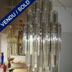 Verre de Murano transparent et rouge 132 pièces - VENDU