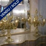 Set of candelabras Smoked glass of Murano - SOLD