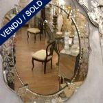 Engraved mirror . Epoque 1940 - SOLD