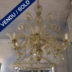 """Verre de Murano """"PAULY"""" 6 branches - VENDU"""