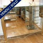 Commode whole in mirror 4 drawers and guilded wood - SOLD