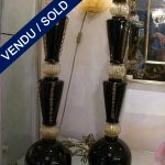 Set of black and gilded lamps of Murano - SOLD