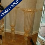 Set of gilded vases of Murano - SOLD