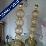 Murano -Base métal doré - VENDU