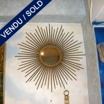 Mirror in gilded wrought iron - SOLD