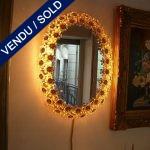 Miroir éclairé en verre de Murano - VENDU