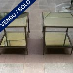Set of tiny tables - Mirror and metal - SOLD