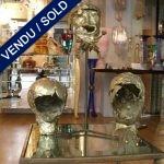 Ensemble de trois sculptures signées par ... - VENDU