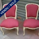 Ref : MC18  - Set of chairs style Louis XV - SOLD