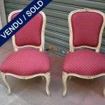 Ref : MC18  - Paire de chaises style Louis XV - VENDU