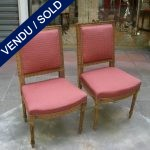 Ref : MC17  - Set of chairs style Louis XVI - SOLD