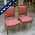 Ref : MC17  - Paire de chaises style Louis XVI - VENDU