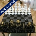 Chess with plate glass of Murano - SOLD