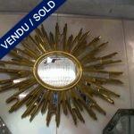 Miroir Soleil bois doré - VENDU