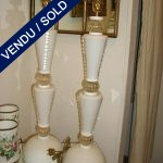 White guilded Murano - SOLD
