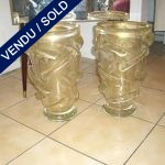 Set of guilded Murano vases - SOLD