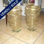 Paire Murano doré - VENDU