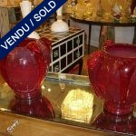 Paire de Murano rouge - VENDU