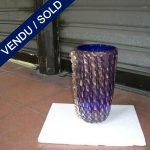 A vase in blue and gold glass of Murano - SOLD