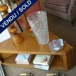 Corner table in varnished wood - SOLD