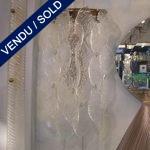 Ref : LA53 - Paire d'appliques en verre de Murano - VENDU