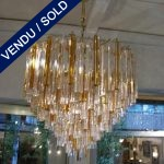"Chandelier ""Venini"" amber and transparent Epoque 1970 - SOLD"