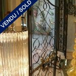 Double gate in wrought iron gold - SOLD