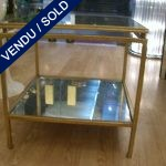 Set of tiny coffee tables mirror - SOLD