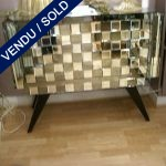 White and grey commode - mirror - SOLD