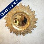 Miroir soleil - bois patiné - VENDU