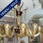 Signé Véronèse Verre de Murano 10 luminaires - VENDU