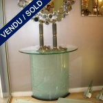 Console in etched glass - SOLD